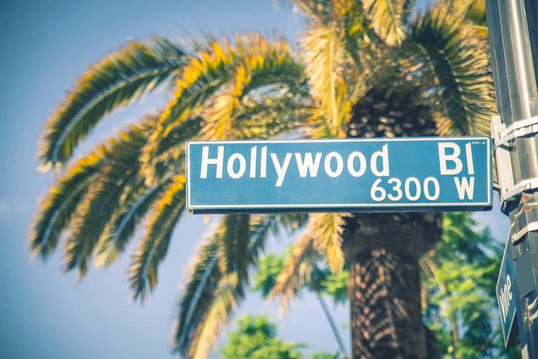 Cartel del Hollywood Boulevard en Los Ángeles California