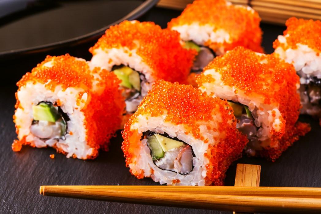 plate full of sushi