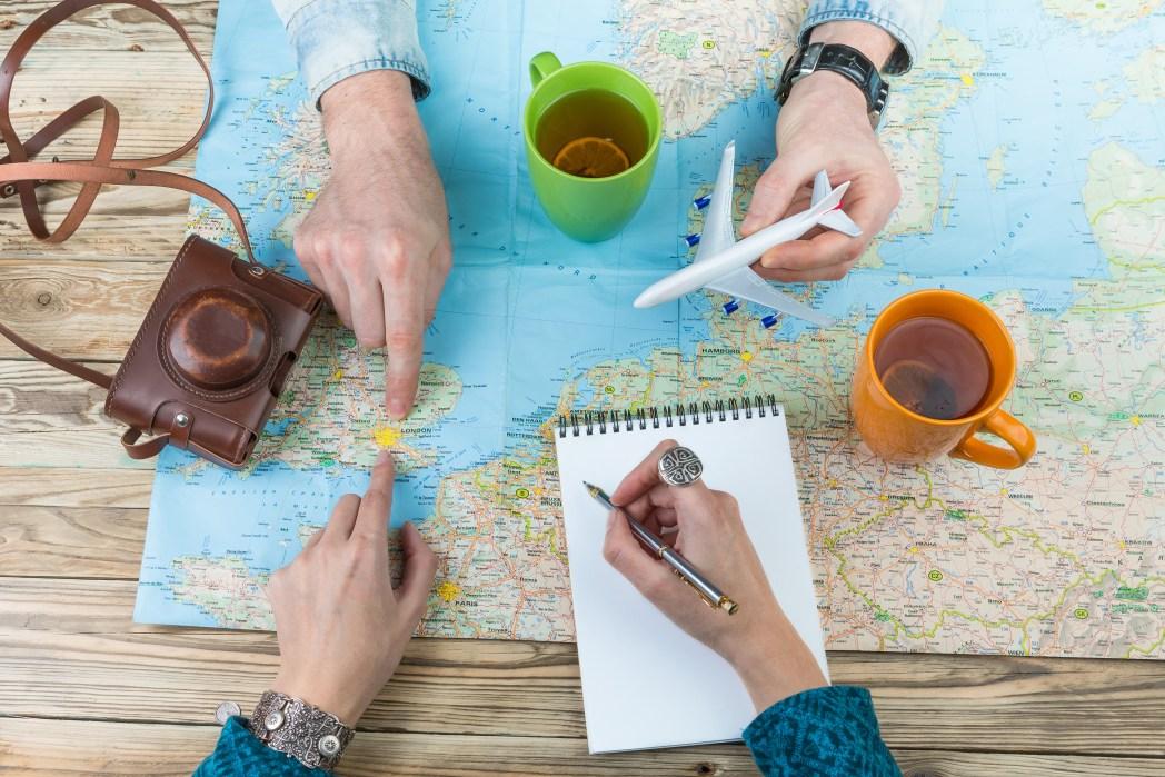 planear, viaje, organizar, preparar, vacaciones