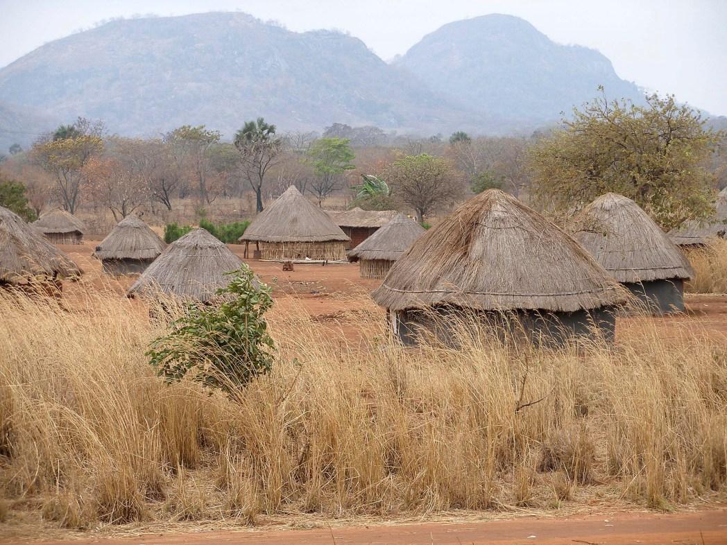 mozambique huts countryside